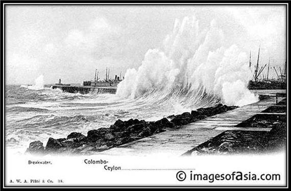 Breakwater, Colombo. Ceylon