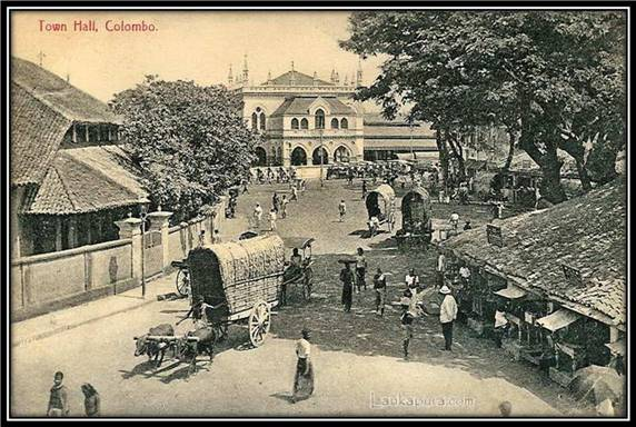 Colombo Town Hall, Ceylon, Late 1800's