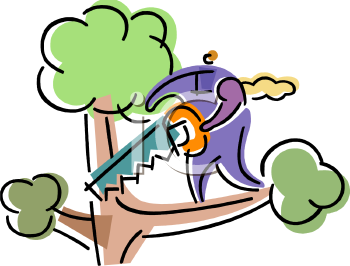 0511-1202-0214-4651_Foolish_person_about_to_cut_off_a_tree_branch_on_which_they_are_standing_clipart_image